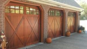 Residential garage doors r s erection of concord for Garage door wood overlay