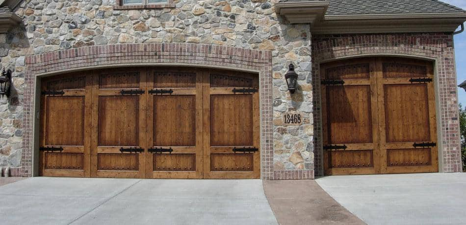 Residential garage doors r s erection of concord for Wood looking garage doors